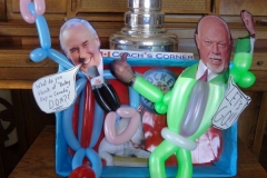 Don Cherry & Ron MacLean (Coaches Corner tribute balloon!)