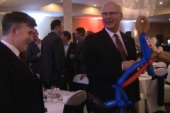 Peter Mansbridge (Balloon gift- he kept it!)