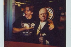 Don Cherry (stand-up on the HNIC set)