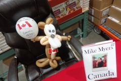 Mike Myers (Balloon gift, celebrating his new book 'Canada')