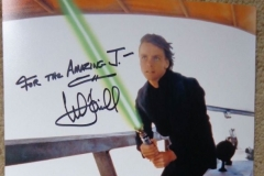 Mark Hamill (Luke Skywalker autograph...he also wanted to be a magician growing up!))