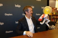 Chris Hadfield (He liked the balloon, and kept it!)