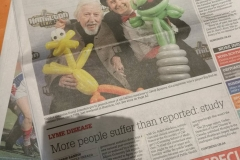 Sesame Street's Caroll Spinney (Front page story in Halifax's Chronicle Herald)