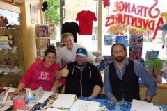 Nick Bradshaw (Marvel artist, with Danica Brine and Derek Jessome)