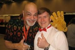 George Pérez (Legendary artist, signs and wears my Infinity Gauntlet!)