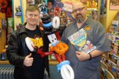 Calum Johnston (Scrooge McDuck balloon gift)