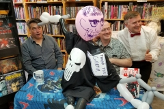 Garth Ennis (playing around with Punisher balloon!)