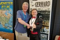 Gerhard (Cerebus artist, with Dave Sim)