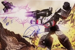 Transformers (Autographed Megatron poster by voice actor Frank Welker)