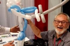 Stan Sakai (Reacts to Usagi Yojimbo balloon gift)