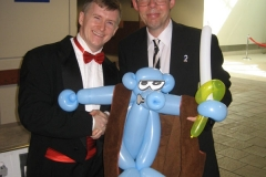 Dave Sim (Giving him Cerebus balloon!)
