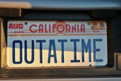 Back to the Future (DeLorean license plate)