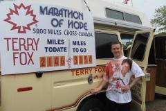 Terry Fox van (Original 1980 'Marathon of Hope' van)