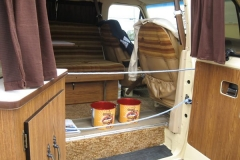 Terry Fox van (inside the van, where Terry slept most nights)