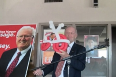 Jean Chrétien (brought my balloon bike on stage!)