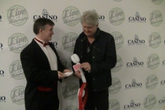 Tom Cochrane (Performing a card trick)