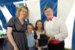 Natalie MacMaster (with children Mary Frances & Michael)