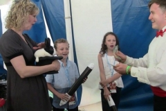 """Natalie MacMaster (Natalie: """"Wow!! That trick was really sumptin'!)"""