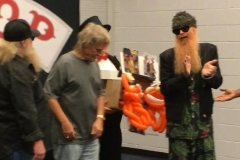 ZZ Top (Billy Gibbons clapping for the balloon tribute!)