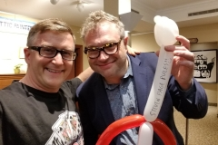 Steven Page (Barenaked Ladies- loved his balloon guitar!)