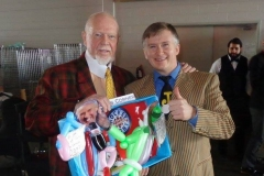 Don Cherry (backstage for 'Hockey Day in Canada')
