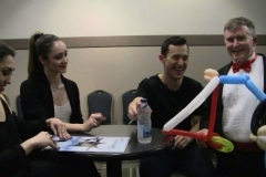 Stars On Ice (Patrick Chan- Laughs at balloon gift!)