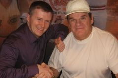 Pete Rose (Baseball's all-time leader in hits, games played, at-bats, singles, and outs)