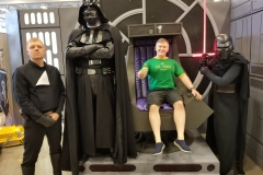 Kylo Ren, Vader, First Order's Hux (cosplayers)