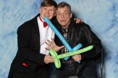 Luke Skywalker (Mark Hamill) Balloon lightsabre duel!